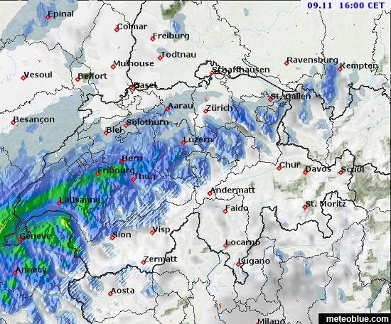Wetterkarten - Schweiz - meteoblue