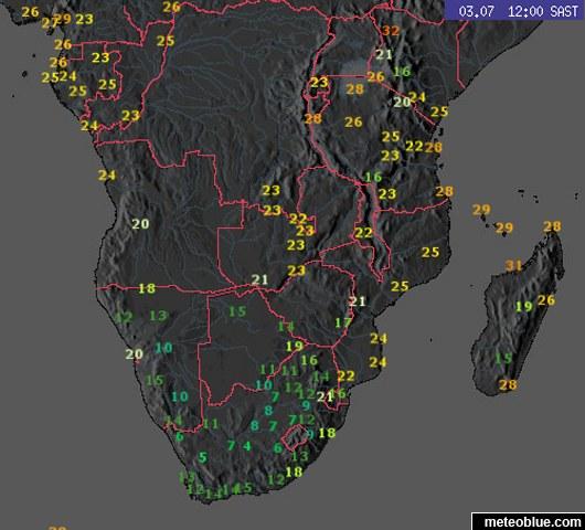 Carte Meteo Afrique Du Sud.Cartes Meteo Afrique Du Sud Meteoblue
