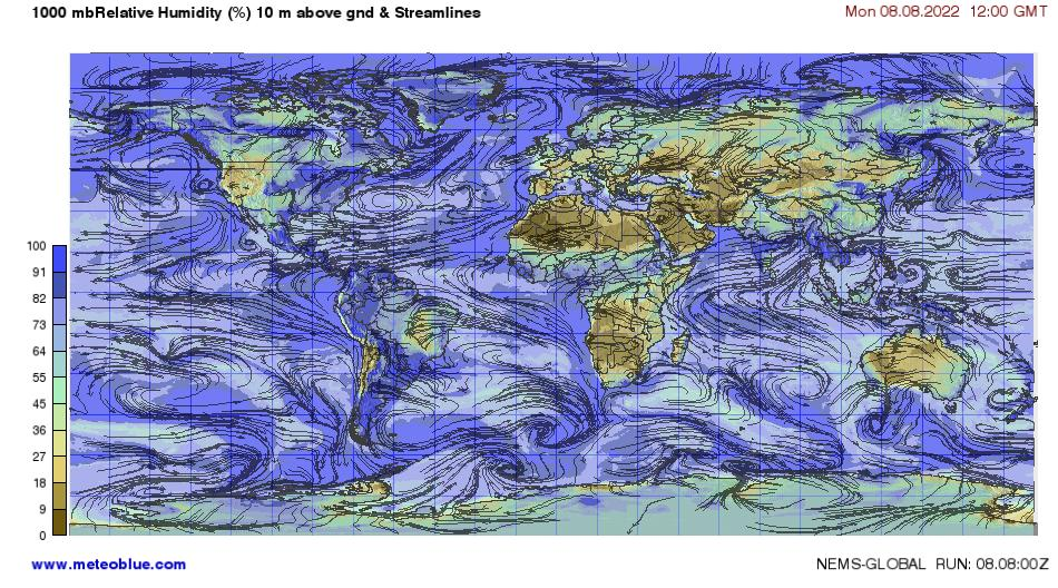 Weather Maps World Meteoblue