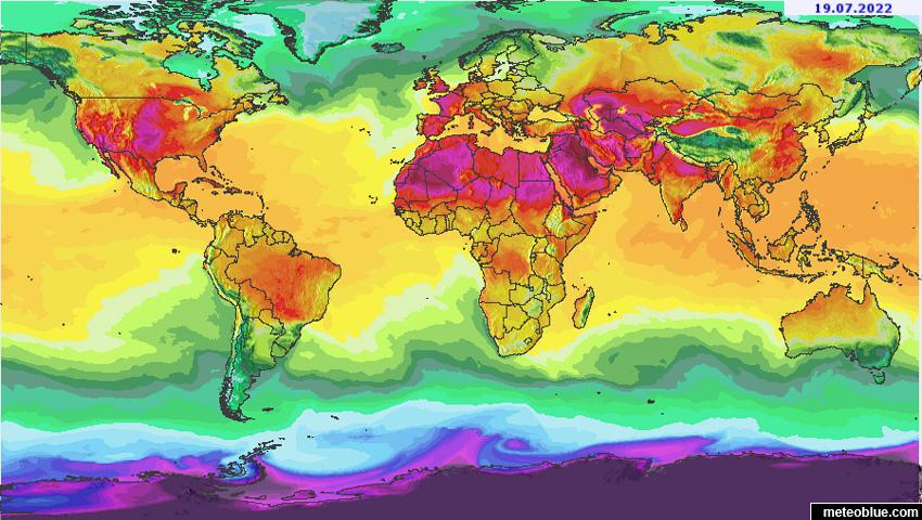 Weather maps - World - meteoblue