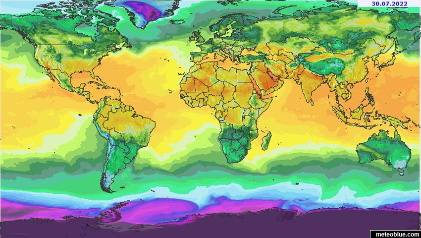 Weather maps - World - meteoblue