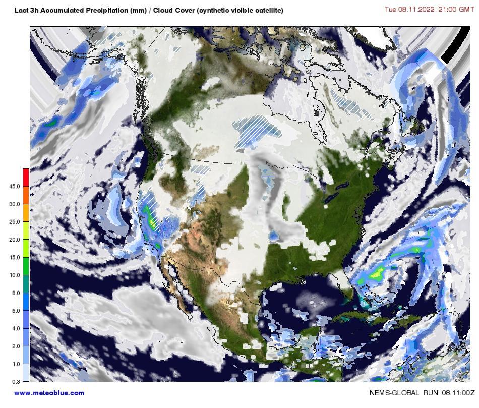satellite weather map north america Weather Maps North America Meteoblue