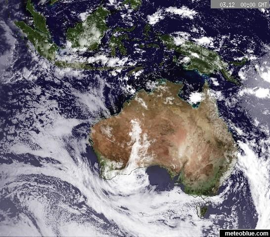 Hărţi Meteo Oceania Meteoblue