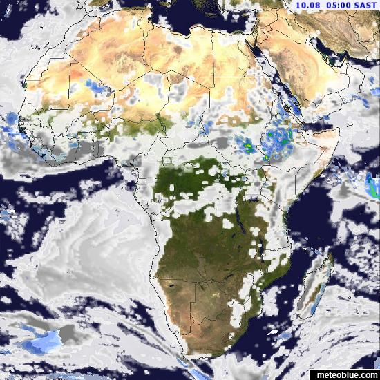 Weather maps - Africa - meteoblue