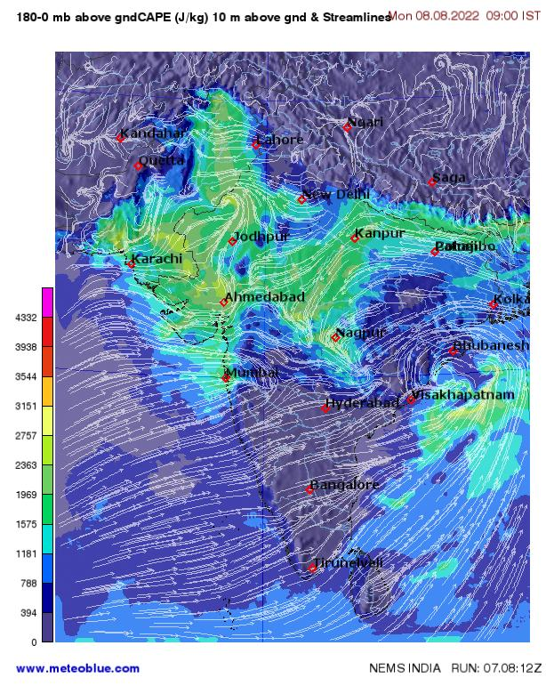 Weather Maps India Meteoblue