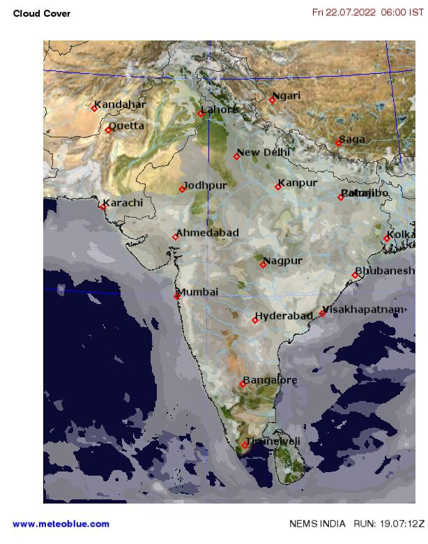 Weather maps - India - meteoblue