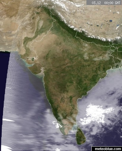 Weather India Map Weather maps   India   meteoblue Weather India Map