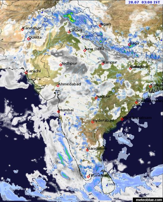 Weather maps - India - meteoblue