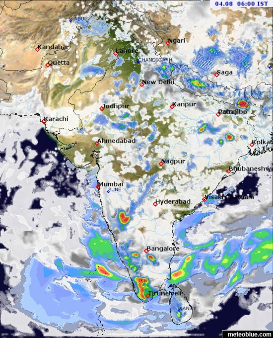 Weather maps - India - meteoblue on india map outline, india overpopulation map, india seasons map, india political map, india weather, christian population india map, india temperature map, india main cities map, india earthquake zone map, india cultural diffusion map, india resources map, india sun map, india rainfall map, india education map, india population concentration map, india minerals map, india and south asia physical map, india altitude map, mughal empire india map, india relief map,