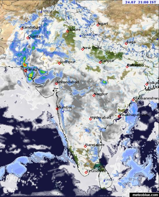 Map 9f Asia.Weather Maps India Meteoblue
