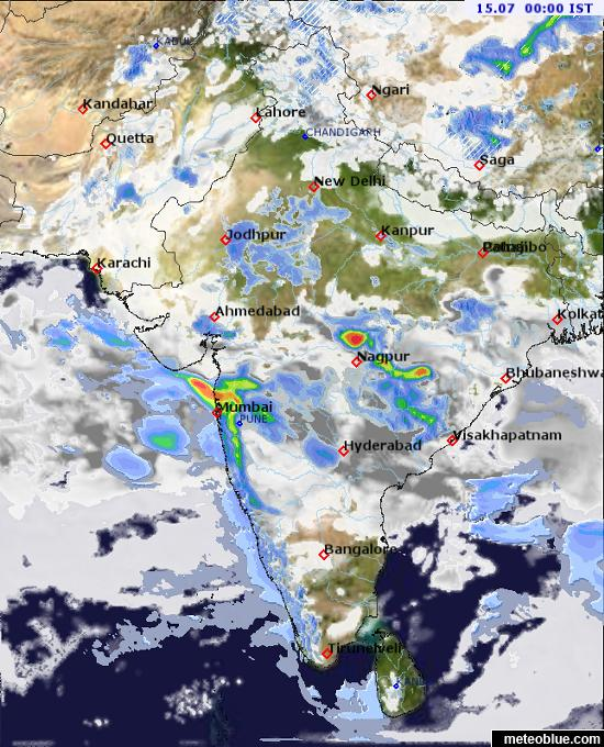 Weather maps - India - meteoblue on