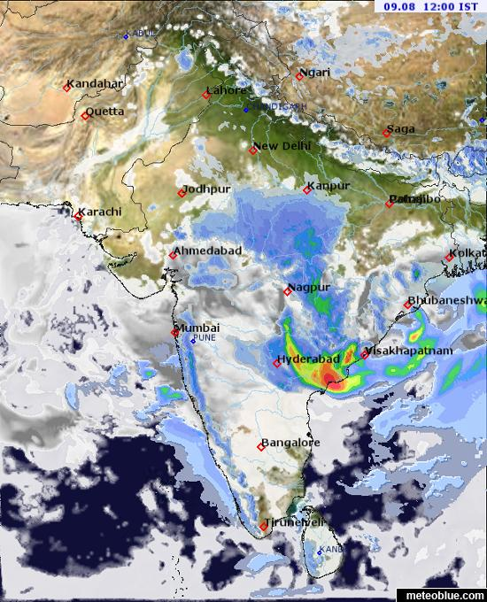 Weather maps - India - meteoblue on meerut weather, visakhapatnam weather, pathankot weather, chittoor weather, pithoragarh weather, patna weather, vadodara weather, delhi weather, gujrat weather, kota weather, kottayam weather, chitradurga weather, dehradun weather, hoshiarpur weather, nagercoil weather, ahmednagar weather, dindigul weather, lucknow weather, wayanad weather, dhanaulti weather,
