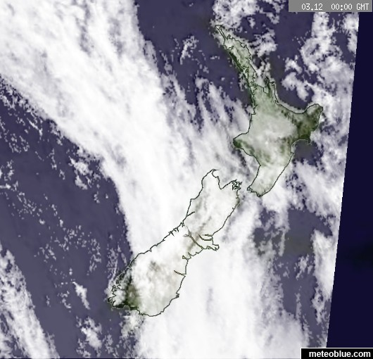 Weather Maps New Zealand Meteoblue