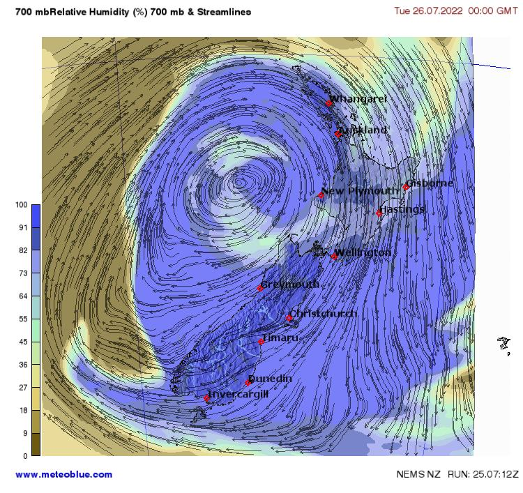 New Zealand Weather Map.Weather Maps New Zealand Meteoblue