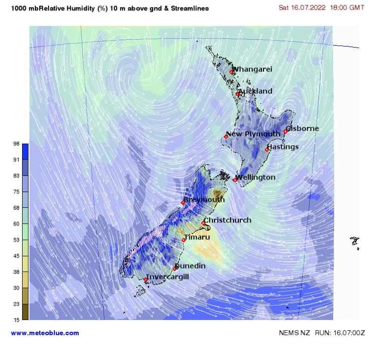 Weather maps - New Zealand - meteoblue
