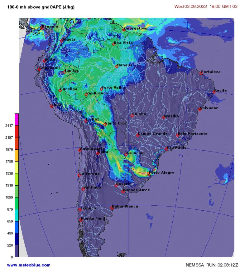 Weather Maps South America Meteoblue: Weather Map Of South America At Codeve.org