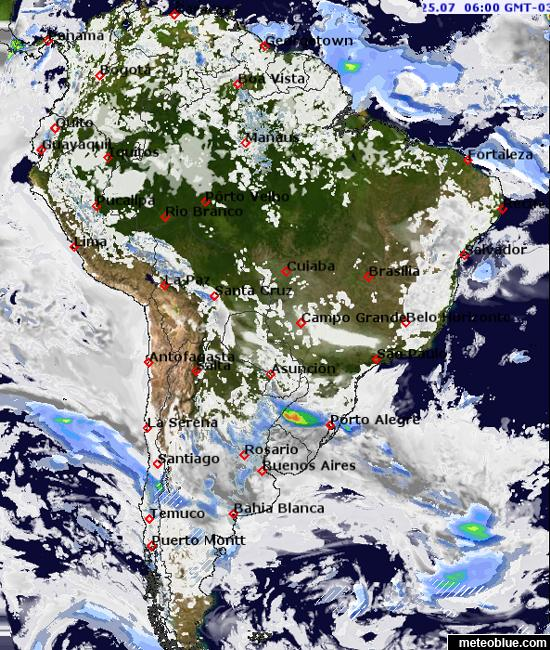 Weather maps South America meteoblue