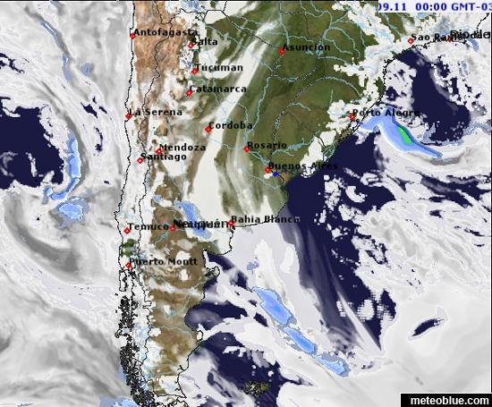 Weather Maps Argentina Meteoblue