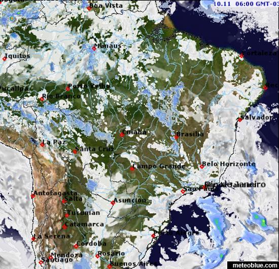 Weather maps - Brazil - meteoblue