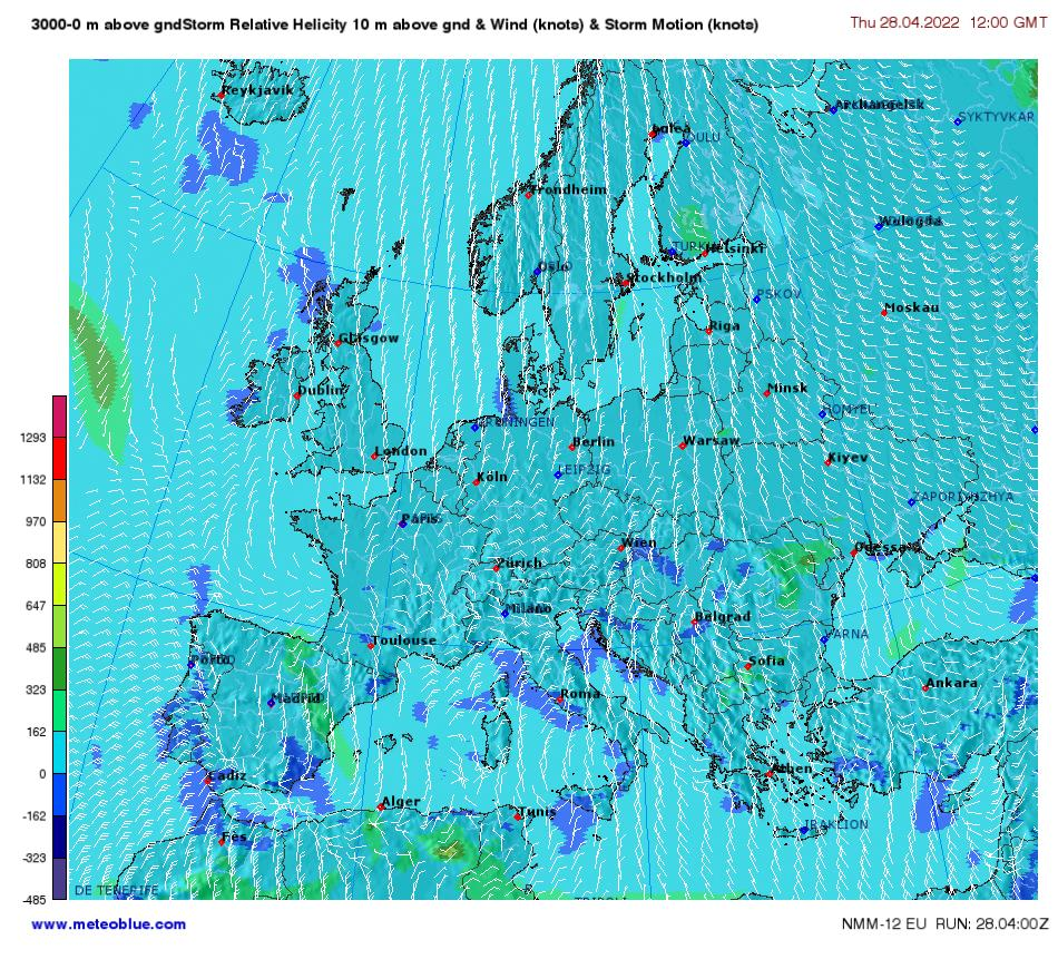 Motion Weather Map.Weather Maps Europe Meteoblue