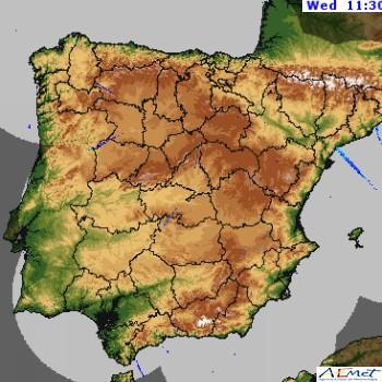 Radar Lluvias Península